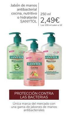 Oferta de Jabón de manos antibacterial cocina, nutritivo o hidratante SANYTOL  por 2,49€