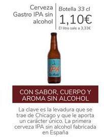Oferta de Cerveza Gastro IPA sin alcohol  por 1,1€