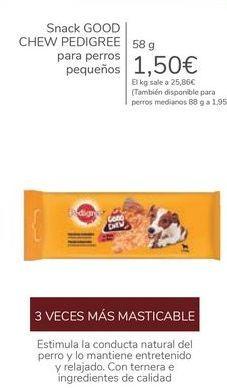 Oferta de Snack GOOD CHEW PEDIGREE para perros pequeños  por 1,5€