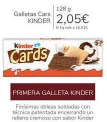Oferta de Galletas Cars KINDER por 2,05€