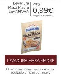 Oferta de Levadura Masa Madre LEVANOVA por 0,99€