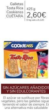 Oferta de Galletas Tosta Rica Cookienss CUÉTARA  por 2,6€