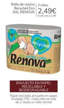 Oferta de Rollo de cocina Recycles Eco XXL RENOVA  por 2,49€