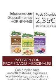 Oferta de Infusiones con Superalimentos HORNIMANS por 2,35€