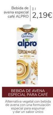 Oferta de Bebida de avena especial café ALPRO  por 2,19€