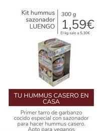 Oferta de Kit hummus sazonador LUENGO por 1,59€
