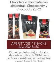 Oferta de Chocolate o chocolate con almendras, Chococandy y Chocodots ZERO por