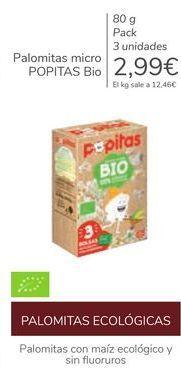 Oferta de Palomitas micro POPITAS Bio  por 2,99€