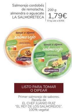 Oferta de Salmorejo cordobés de remolacha, almendra o aguacate LA SALMORETECA por 1,79€