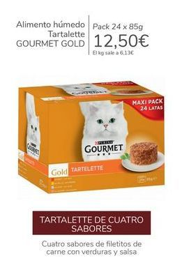 Oferta de Alimento húmedo Tartalette GOURMET GOLD por 12,5€
