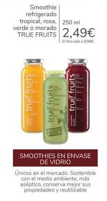 Oferta de Smoothie refrigerados tropical, rosa, verde o morado TRRUE FRUITS  por 2,49€
