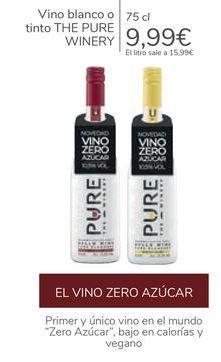 Oferta de Vino blanco o tinto THE PURE WINERY  por 9,99€
