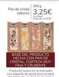 Oferta de Pan de cristal sabores por 3,25€
