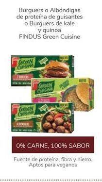 Oferta de Burguers o Albóndigas de proteína de guisantes o Burguers de kale y quinoa FINDUS Green Cuisine por
