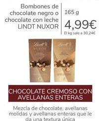 Oferta de Bombones de chocolate negro o chocolate con leche LINDT NUXOR por 4,99€