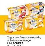 Oferta de Yogur con fresas, melocotón,arándanos o mango  La Lechera por 0,9€