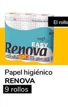 Oferta de Papel higiénico Renova por 0,9€