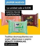 Oferta de Toallitas desmaquillantes Beauty formulas  por 0,9€