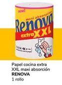 Oferta de Papel de cocinaextra XXL maxi absorción  Renova por 0,9€