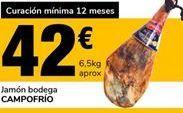 Oferta de Jamón bodega Campofrío por 42€