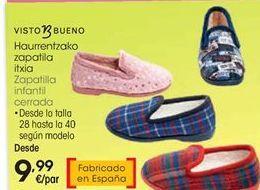 Oferta de Zapatillas infantil Visto Bueno por 9,99€