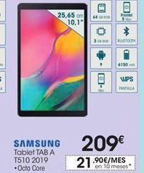 Oferta de Tablet Tab A Samsung por 209€