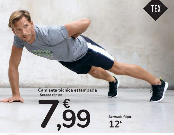 Oferta de Camiseta técnica estampada por 7,99€