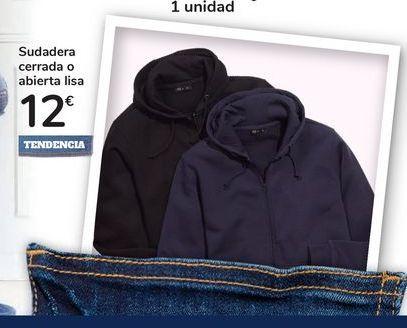 Oferta de Sudadera cerrada o abierta lisa por 12€