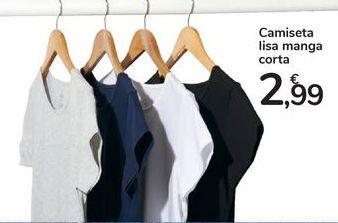 Oferta de Camiseta lisa manga corta por 2,99€
