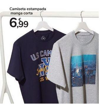 Oferta de Camiseta estampada manga corta por 6,99€