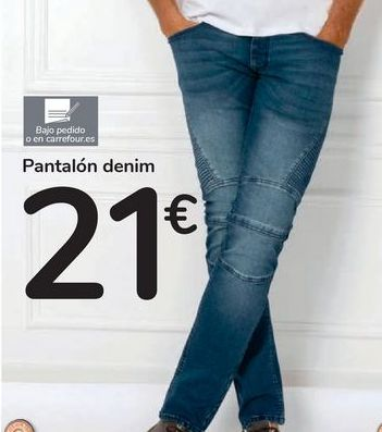 Oferta de Pantalón denim por 21€