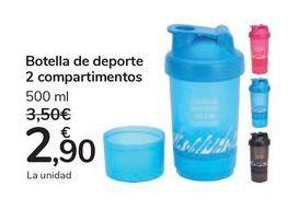 Oferta de Botella de deporte 2 compartimientos por 2,9€