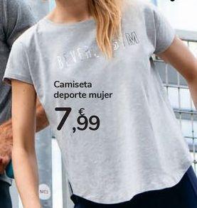 Oferta de Camiseta deporte mujer por 7,99€