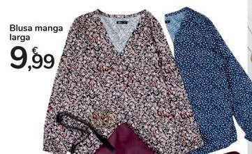 Oferta de Blusa manga larga por 9,99€