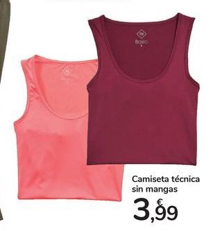 Oferta de Camiseta técnica sin mangas por 3,99€