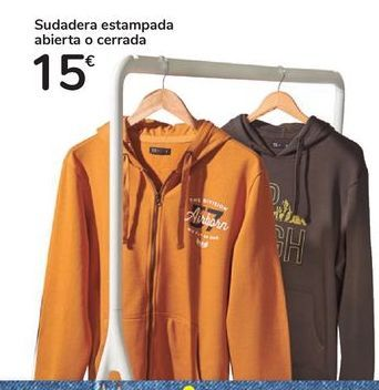 Oferta de Sudadera estampada abierta o cerrada por 15€
