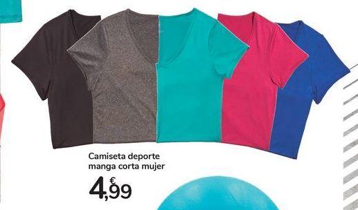 Oferta de Camiseta deporte manga corta mujer por 4,99€