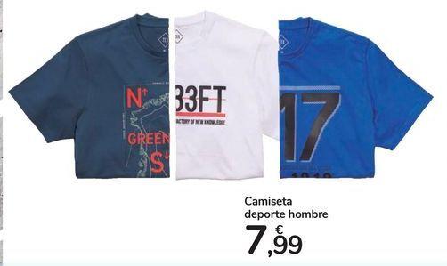 Oferta de Camiseta deporte hombre por 7,99€