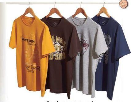 Oferta de Camiseta estampada manga corta por 3,99€