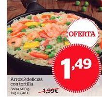 Oferta de Arroz tres delicias por 1,49€