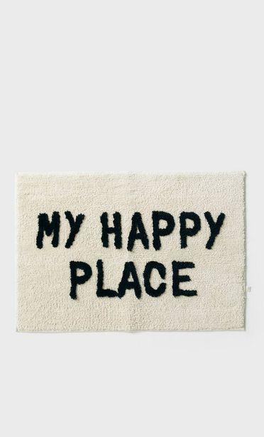 Oferta de Alfombra my happy place por 12,99€