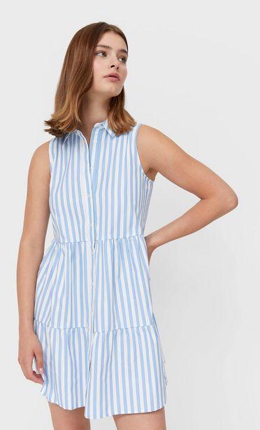 Oferta de Vestido camisero de rayas por 15,99€