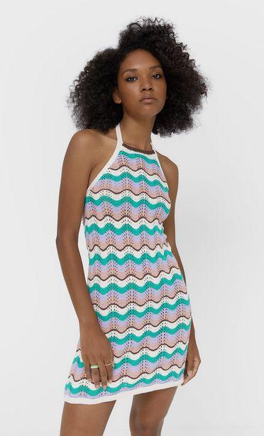 Oferta de Vestido crochet zig zag por 25,99€