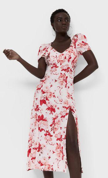 Oferta de Vestido midi flores por 25,99€