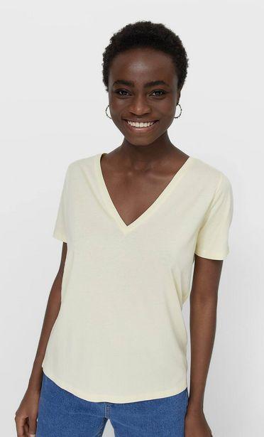 Oferta de Camiseta básica cuello pico por 5,99€