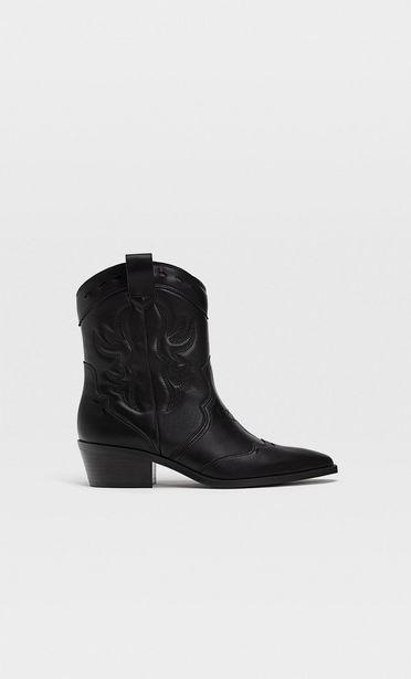 Oferta de Botines cowboy negros por 45,99€