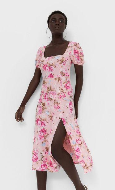 Oferta de Vestido midi escote espalda por 25,99€