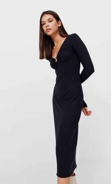 Oferta de Vestido midi manga larga anilla por 25,99€