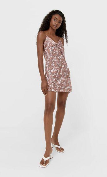 Oferta de Vestido lencero frunce por 17,99€