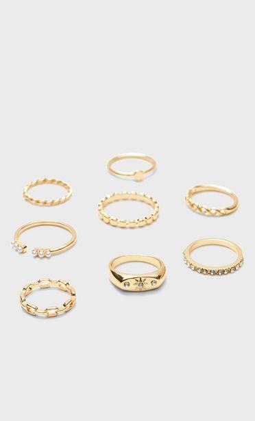 Oferta de Set 8 anillos sol por 5,99€